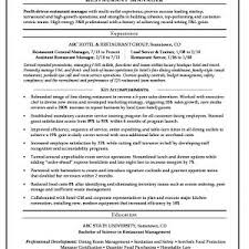 restaurant manager resume template resume template management experience fresh restaurant manager