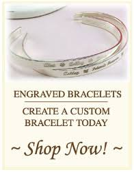 Personalized Engraved Bracelets Baby Bracelets Christening Gifts Baptism Gifts Personalized