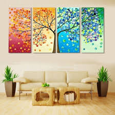 15 paintings for living room inspiration designforlife s portfolio 4 piece frameless colourful leaf trees canvas painting wall art for paintings for living room 7