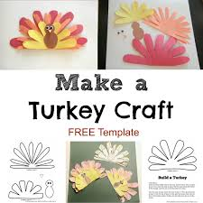 cute turkey craft w free printable template planning playtime