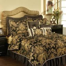 buy gold and black bedding sets from bed bath beyond