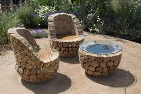 unique outdoor furniture handmade from oak wood home design