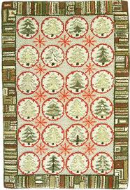 Christmas Rug 1216 Best Hooked And Proddy And Other Rugs Images On Pinterest