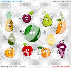 clipart of cartoon fruit characters royalty free vector
