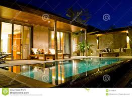 House With Swimming Pool Modern House With Swimming Pool Royalty Free Stock Photos Image