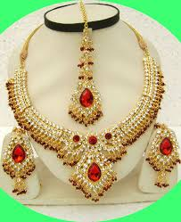 red necklace set images Attractive red necklace set jpg