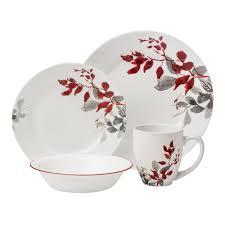 corelle boutique kyoto leaves 16 pc dinnerware set shop world
