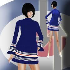 second life marketplace 60 u0027s red white u0026 blue mod knit dress by msd