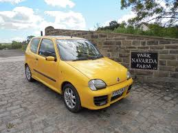 fiat seicento sporting in yellow 2003 03 reg mot june 2018 in