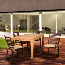 Jamie Durie Patio Furniture by Amazonia Clemente 4 Person Cast Aluminum Patio Dining Set With