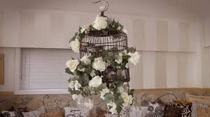 How To Decorate A Birdcage Home Decor How To Make A Floral Decorative Birdcage Youtube