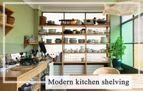 10 uniquely creative ideas to design open kitchen shelves