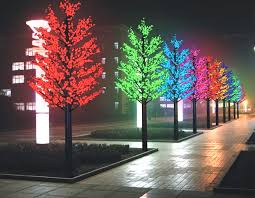 led trees installed in saudi arabia dubai and other countries