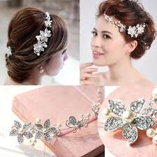 in stock high quality gorgeous pearl studded hair jewelry