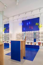 ace u0026 tate u0027s copenhagen eyewear store features blocks of primary