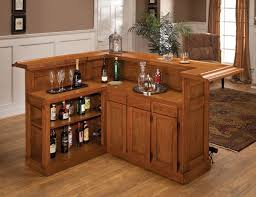 Lantern Table L Decorations Rustic Small Home Bar Ideas L Shape Brown Wood Bar