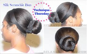 bun scrunchie easy method for creating a hair bun