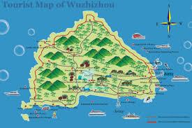 map of island wuqizhou island tourist map wuqizhou island mappery