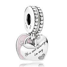 pandora hearts soft pink enamel clear cz drop