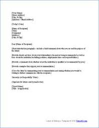 ideas of how to write a letter of recommendation for someone else