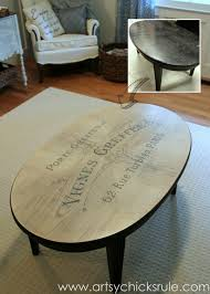 White Wash Coffee Table - french typography u0026 whitewash makeover words themed tour