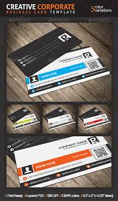 creative corporate business card with qr code by mengloong