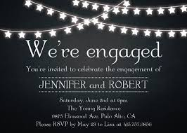 rustic outdoor chalkboard cheap engagement party invitation cards