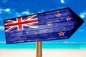Flag New Zealand New Zealand Flag Wooden Sign On Beach Background Kitty Bucholtz