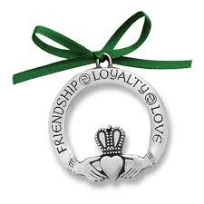 celtic claddagh pewter ornament