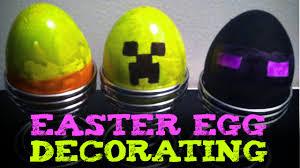 minecraft easter eggs random egg decorating youtube
