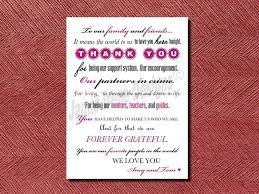 modern wedding day thank you card