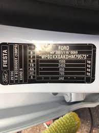 2017 fiesta paint code page 1 ford pistonheads