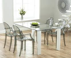 glass dining room sets dining table with ghost chairs 4wfilm org