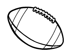American Football Ball Coloring Pages Coloringstar Football Coloring Page