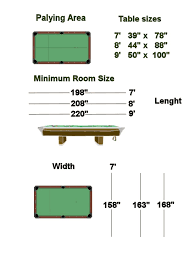Pool Table Dimensions by Room Dimensions For Pool Table Table Designs