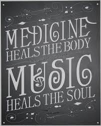 music heals the soul metal wall art home decor flat black finish