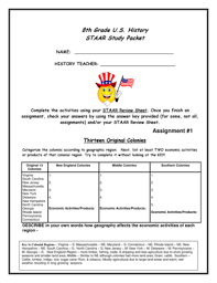 8th grade us history staar study packet fill online printable