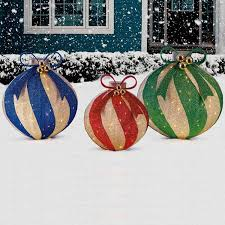 Oversized Christmas Yard Ornaments by What Christmas Lights Are All About