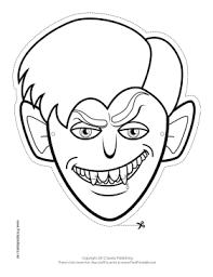 printable vampire monster mask color mask