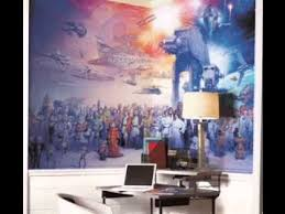 Star Wars Bedroom Paint Ideas Star Wars Room Wallpaper Decorating Ideas Youtube