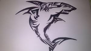 great white shark tribal tattoo by 12097596 on deviantart