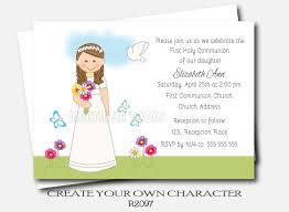 holy communion invitations personalized girl communion invites holy communion