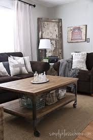 brown couches and industrial vintage style wall color owl grey