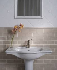Subway Tile Small Bathroom Subway Tile Ideas Bathroom Traditional With Arched Doorway Black