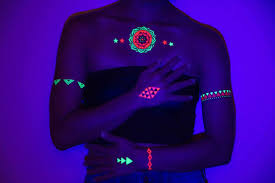 glow in the dark tattoo how long does it last glow in the dark uv blacklight activated temporary tattoos tribetats