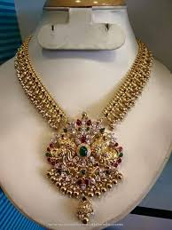 beautiful necklace designs images Beautiful antique gold necklace design south india jewels jpg