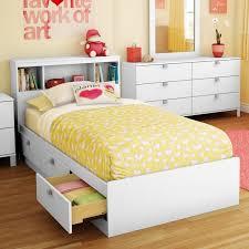 Twin Beds With Drawers Sparkling Bookcase Storage Platform Bed Hayneedle