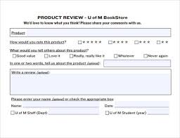 Product Review Template sle product review template 6 documents in pdf word