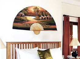 oriental fan wall hanging asian decor oriental wall fans and chinese umbrellas