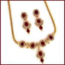 gold necklace ruby images 3 23ctw diamond gold ruby necklace set gleam jewels jpg